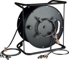 Laird Digital Cinema RAV1R-1 PL Laird Remote AV Cable & Reel System w/ Connectorized Hub - 656 Foot