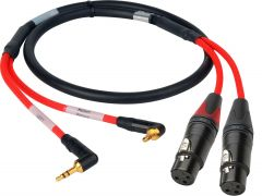 Laird Digital Cinema RD1-2MPS2XF-10 Laird  2-Channel Stereo 3.5mm Male to XLR-F Red Camera Audio Input Cable - 10 Foot