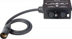 Laird Digital Cinema RD1-BX6 Laird  12-Volt Twin Output 4-Pin XLR Power Splitter Box