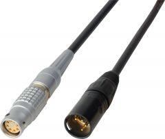 Laird Digital Cinema RD1-PWR11-02 Laird  Power Cable 12V DC Lemo 3B 8-Pin Female to 4-Pin XLR Male - 2 Foot