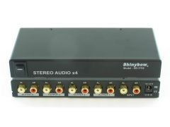 Shinbow SB-3705 1x4 Stereo Audio (AR/AL) Distribution Amplifier