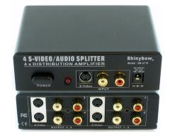Shinbow SB-3716 1x4  S-Video + Audio Distribution Amplifier Splitter