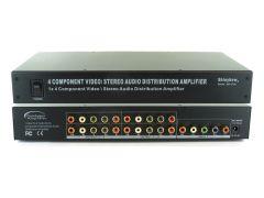 Shinbow SB-3730 (300) 1x4  Component Video / Analog Audio Amplifier Splitter