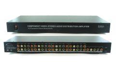 Shinbow SB-3737 1x8  Component Video + Analog Audio Amplifier Splitter