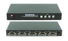 Shinybow SB-4106 4x1 VGA/HDTV Selector Switch w/ IR Control