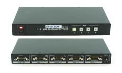Shinbow SB-4106 4x1 VGA/HDTV Selector Switch W/IR Control No Audio