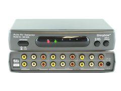 Shinybow SB-5420 4x2 Auto Switching Composite Video/Stereo Audio...