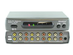 Shinbow SB-5420 4x2 Auto Switching Composite Video/Stereo Audio Switch