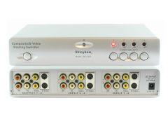 Shinbow SB-5430 4x2  S-Video + Audio/Video Switcher W/IR Remote