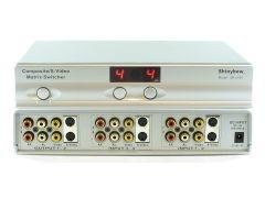 Shinbow SB-5450 4x2 S-Video/Composite Video/Analog Audio Matrix Switcher W/IR Remote