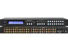 Shinbow SB-8804LCM 8x8 Composite Video Matrix Switcher W/ 8-Zone Volume Control