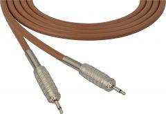 Sescom SC100MMBN Audio Cable Canare Star-Quad 3.5mm TS Mono Male to 3.5mm TS Mono Male Brown - 100 Foot