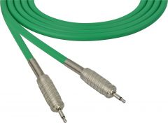 Sescom SC100MMGN   Audio Cable Canare Star-Quad 3.5mm Mini TS Male to Male Green - 100 Foot