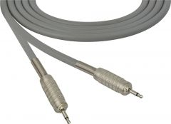 Sescom SC100MMGY   Audio Cable Canare Star-Quad 3.5mm Mini TS Male to Male Gray - 100 Foot