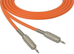 Sescom SC100MMOE   Audio Cable Canare Star-Quad 3.5mm Mini TS Male to Male Orange - 100 Foot