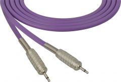 Sescom SC100MMPE   Audio Cable Canare Star-Quad 3.5mm Mini TS Male to Male Purple - 100 Foot