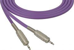 Sescom SC100MMPE Audio Cable Canare Star-Quad 3.5mm TS Mono Male to 3.5mm TS Mono Male Purple - 100 Foot