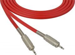 Sescom SC100MMRD   Audio Cable Canare Star-Quad 3.5mm Mini TS Male to Male Red - 100 Foot