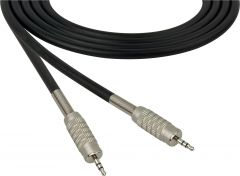 Sescom SC100MZMZ   Audio Cable Canare Star-Quad 3.5mm TRS Male to Male Black - 100 Foot