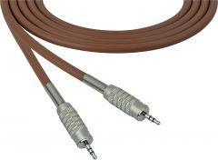 Sescom SC100MZMZBN Audio Cable Canare Star-Quad 3.5mm TRS Balanced Male to 3.5mm TRS Balanced Male Brown - 100 Foot