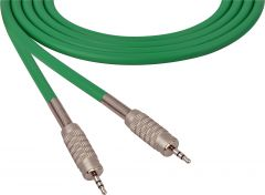 Sescom SC100MZMZGN   Audio Cable Canare Star-Quad 3.5mm TRS Male to Male Green - 100 Foot