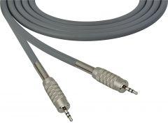 Sescom SC100MZMZGY Audio Cable Canare Star-Quad 3.5mm TRS Balanced Male to 3.5mm TRS Balanced Male Gray - 100 Foot