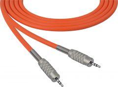 Sescom SC100MZMZOE Audio Cable Canare Star-Quad 3.5mm TRS Balanced Male to 3.5mm TRS Balanced Male Orange - 100 Foot