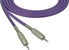 Sescom SC100MZMZPE Audio Cable Canare Star-Quad 3.5mm TRS Balanced Male to 3.5mm TRS Balanced Male Purple - 100 Foot