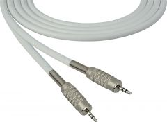 Sescom SC100MZMZWE Audio Cable Canare Star-Quad 3.5mm TRS Balanced Male to 3.5mm TRS Balanced Male White - 100 Foot