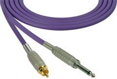Sescom SC100SRPE   Audio Cable Canare Star-Quad 1/4 Inch TS Male to RCA Male Purple - 100 Foot