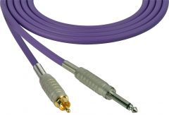 Sescom SC100SRPE Audio Cable Canare Star-Quad 1/4 TS Mono Male to RCA Male Purple - 100 Foot