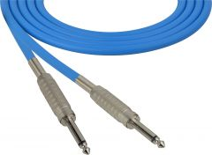 Sescom SC100SSBE   Audio Cable Canare Star-Quad 1/4 Inch TS Male to 1/4 Inch TS Male Blue - 100 Foot