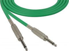 Sescom SC100SSGN   Audio Cable Canare Star-Quad 1/4 Inch TS Male to 1/4 Inch TS Male Green - 100 Foot
