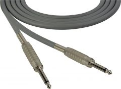 Sescom SC100SSGY Audio Cable Canare Star-Quad 1/4 TS Mono Male to 1/4 TS Mono Male Gray - 100 Foot