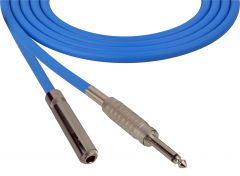 Sescom SC100SSJBE   Audio Cable Canare Star-Quad 1/4 Inch TS Male to Female Blue - 100 Foot