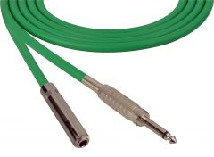Sescom SC100SSJGN   Audio Cable Canare Star-Quad 1/4 Inch TS Male to Female Green - 100 Foot