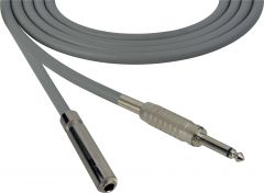Sescom SC100SSJGY   Audio Cable Canare Star-Quad 1/4 Inch TS Male to Female Gray - 100 Foot