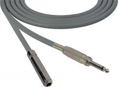 Sescom SC100SSJGY Audio Cable Canare Star-Quad 1/4 TS Mono Male to 1/4 TS Mono Female Gray - 100 Foot
