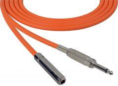 Sescom SC100SSJOE   Audio Cable Canare Star-Quad 1/4 Inch TS Male to Female Orange - 100 Foot