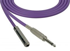 Sescom SC100SSJPE Audio Cable Canare Star-Quad 1/4 TS Mono Male to 1/4 TS Mono Female Purple - 100 Foot