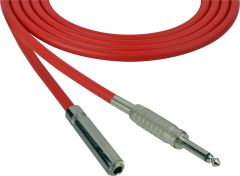 Sescom SC100SSJRD   Audio Cable Canare Star-Quad 1/4 Inch TS Male to Female Red - 100 Foot