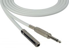 Sescom SC100SSJWE   Audio Cable Canare Star-Quad 1/4 Inch TS Male to Female White - 100 Foot