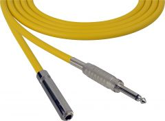 Sescom SC100SSJYW   Audio Cable Canare Star-Quad 1/4 Inch TS Male to Female Yellow - 100 Foot