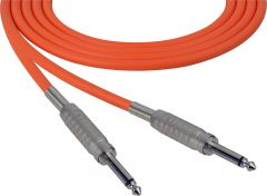 Sescom SC100SSOE   Audio Cable Canare Star-Quad 1/4 Inch TS Male to 1/4 Inch TS Male Orange - 100 Foot