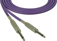 Sescom SC100SSPE Audio Cable Canare Star-Quad 1/4 TS Mono Male to 1/4 TS Mono Male Purple - 100 Foot