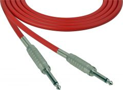 Sescom SC100SSRD   Audio Cable Canare Star-Quad 1/4 Inch TS Male to 1/4 Inch TS Male Red - 100 Foot