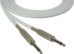 Sescom SC100SSWE   Audio Cable Canare Star-Quad 1/4 Inch TS Male to 1/4 Inch TS Male White - 100 Foot