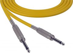 Sescom SC100SSYW   Audio Cable Canare Star-Quad 1/4 Inch TS Male to 1/4 Inch TS Male Yellow - 100 Foot