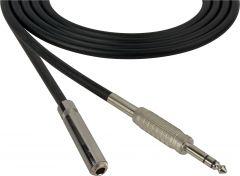 Sescom SC100SZSJZ Audio Cable Canare Star-Quad 1/4 TRS Balanced Male to 1/4 TRS Balanced Female Black - 100 Foot