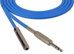Sescom SC100SZSJZBE Audio Cable Canare Star-Quad 1/4 TRS Balanced Male to 1/4 TRS Balanced Female Blue - 100 Foot